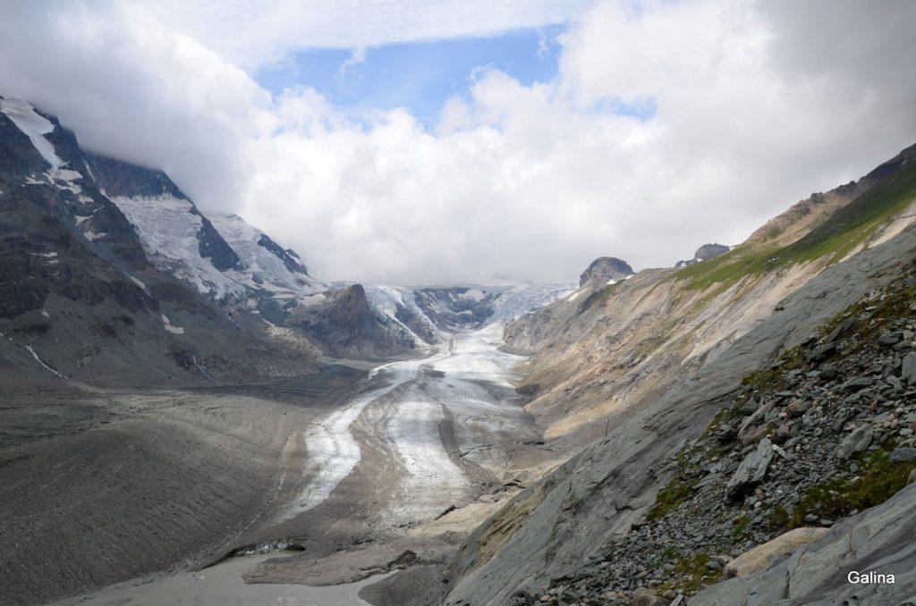 Вершина Гроссглокнер и ледник Пастерце