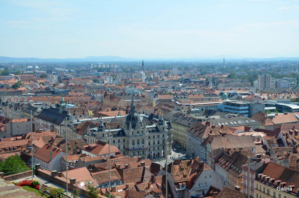 Грац, панорама города