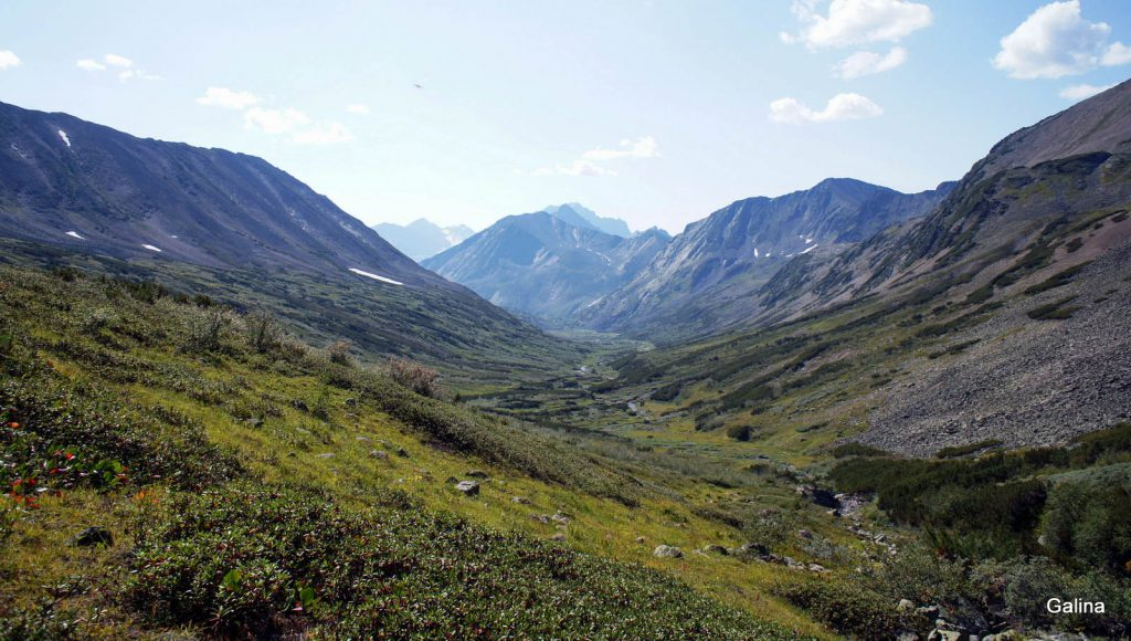 Подъем на перевал Галкина
