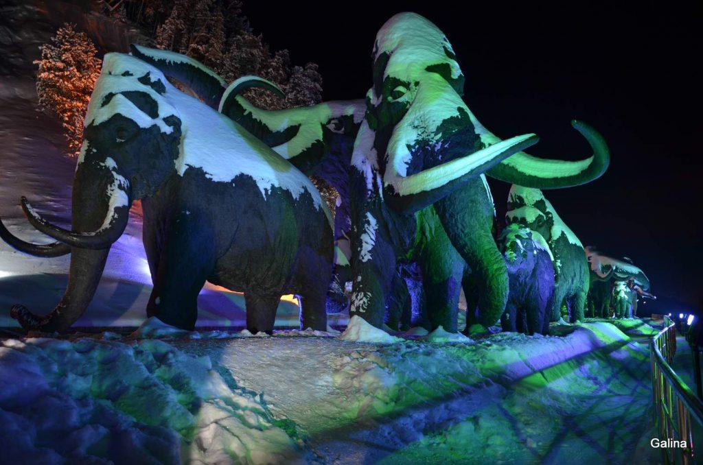 Археопарк и памятник мамонтам в Ханты Мансийске