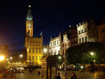 Ночной Гданьск