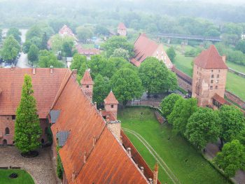 Замок Мальборк, вид с башни