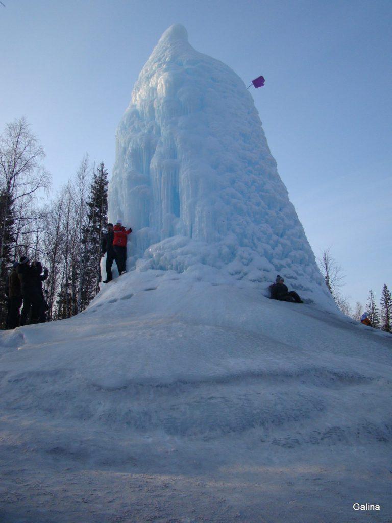 Зюраткуль зимой, ледяная гора