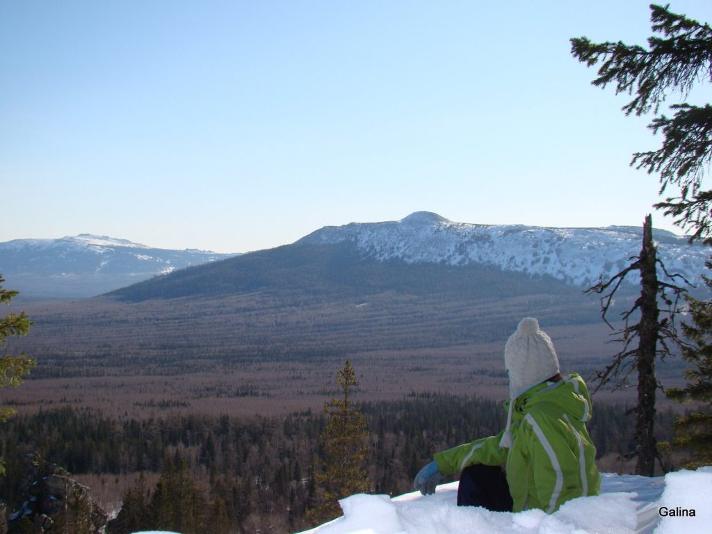 Зюраткуль зимой, вершина Сука