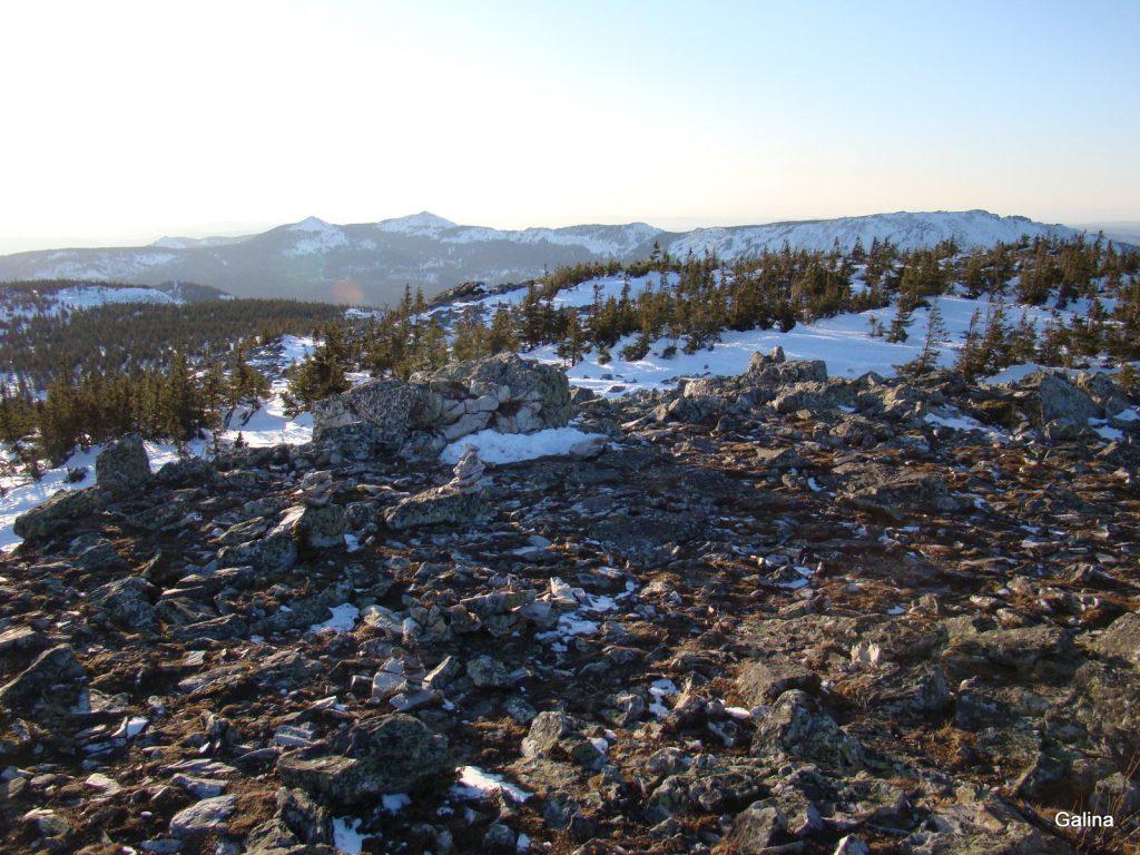 Зюраткуль зимой, вершина Улан