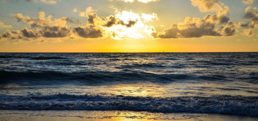 Закат над Балтийским морем на Куршской косе