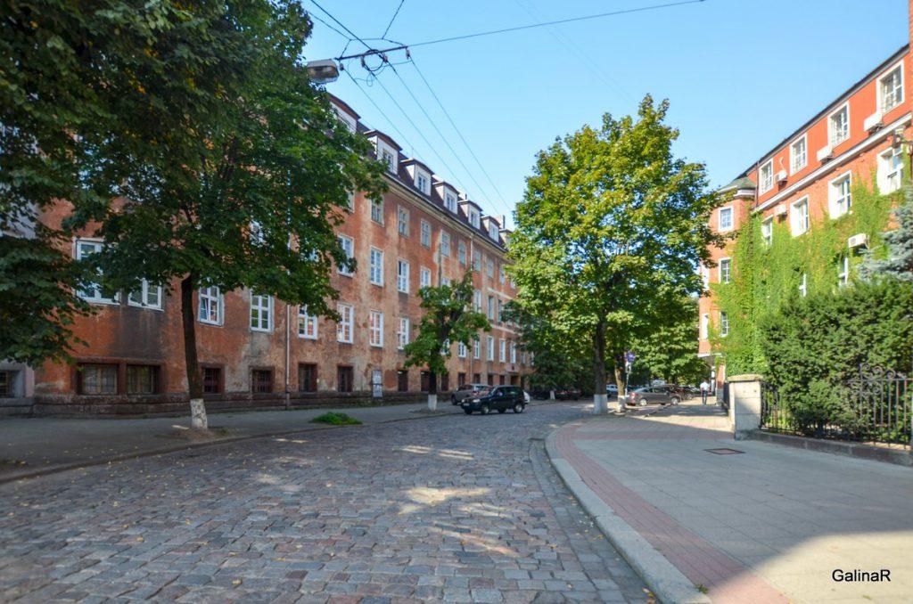 Квартал рядом со зданием ФСБ в Калининграде
