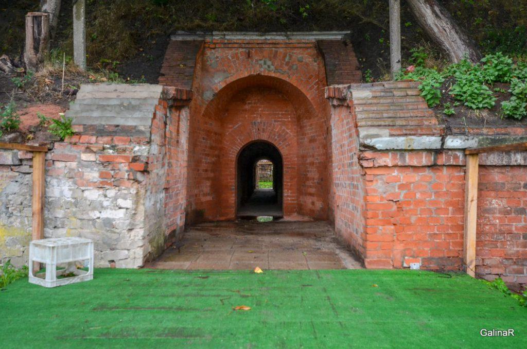 Проход через потерн форта Пиллау