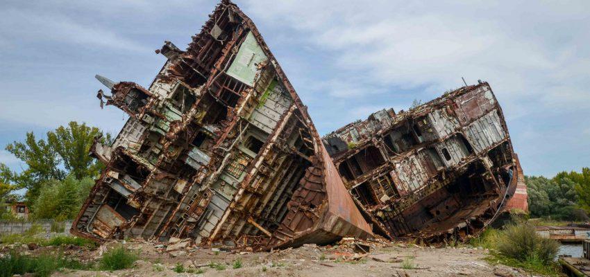 Кладбище кораблей в Балтийске