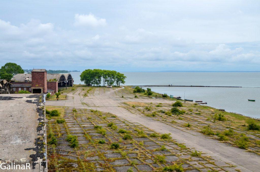 Военный аэродром Нойтиф на Балтийской косе в Балтийске