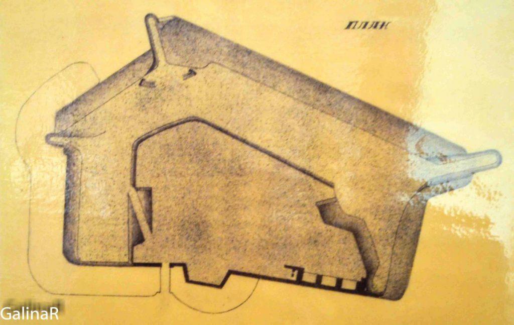 Схема Западного форта в Балтийске