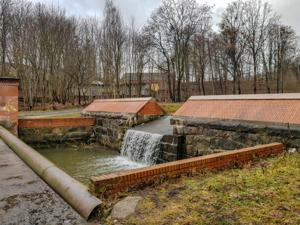 Шлюз на ручье Крепостной в Калининграде