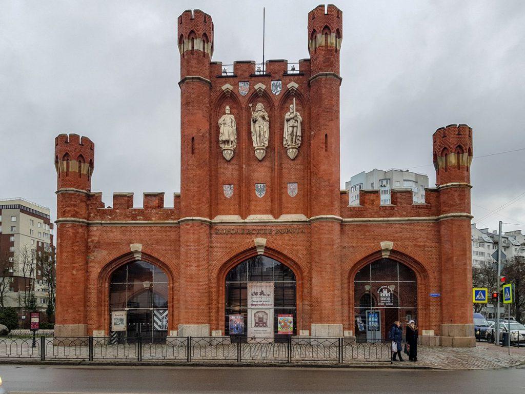 Королевские ворота зимой в Калининграде