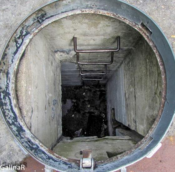 Двухэтажный бункер целеуказания вентиляционный люк