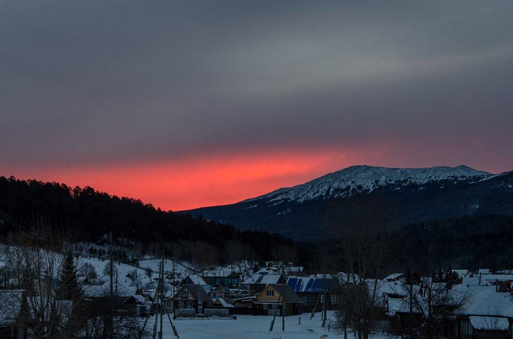 Восход над селом Тюлюк