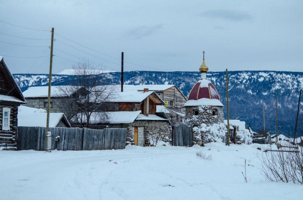 Село Тюлюк зимой, база Медвежий камень