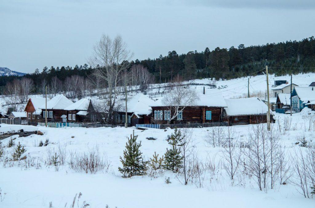 Село Тюлюк зимой