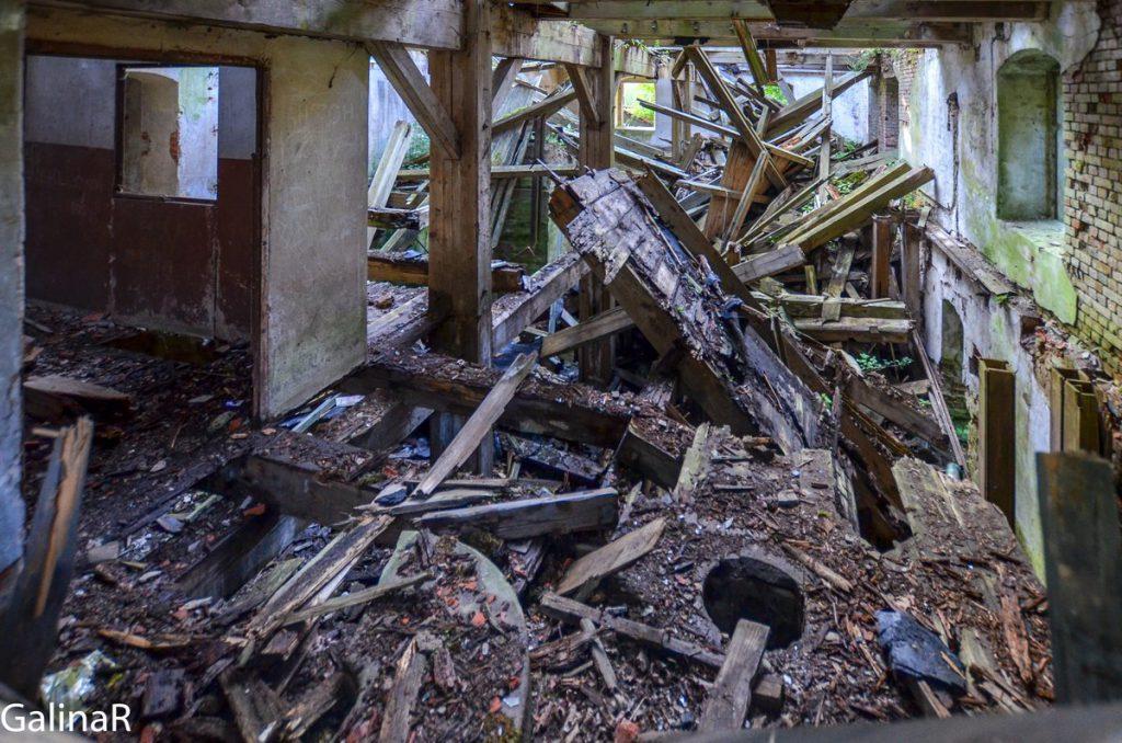 Старая мельница внутри в Гердауэн - Железнодорожный