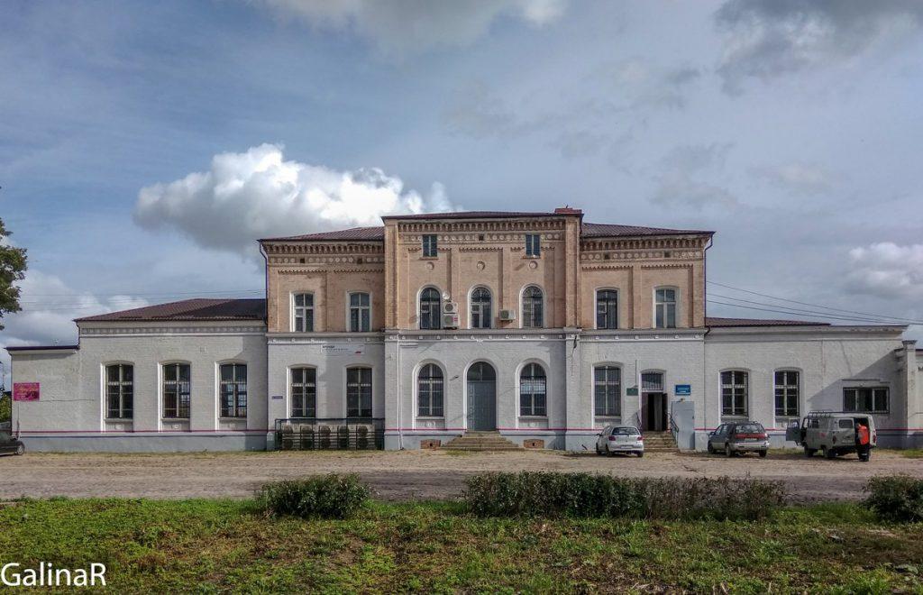 Здание вокзала в Железнодорожном Гердауэн