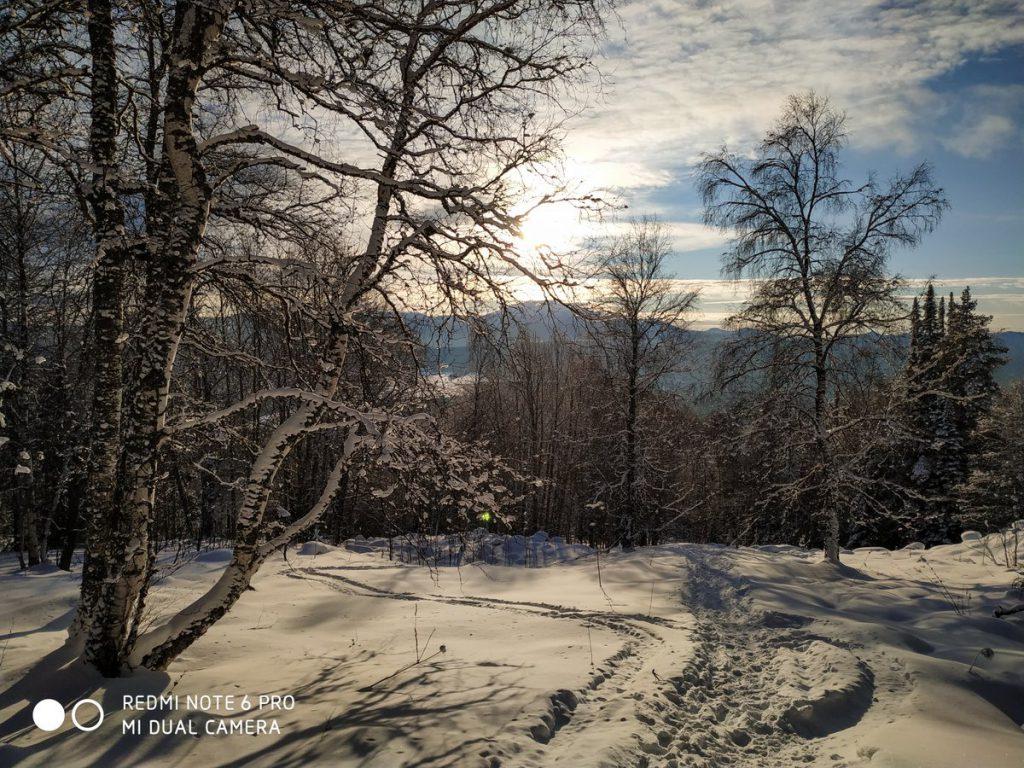 Подъем на хребет Зигальга зимой
