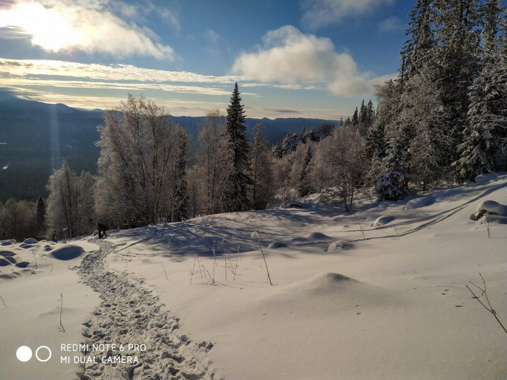 Вид с хребта Зигальга зимой
