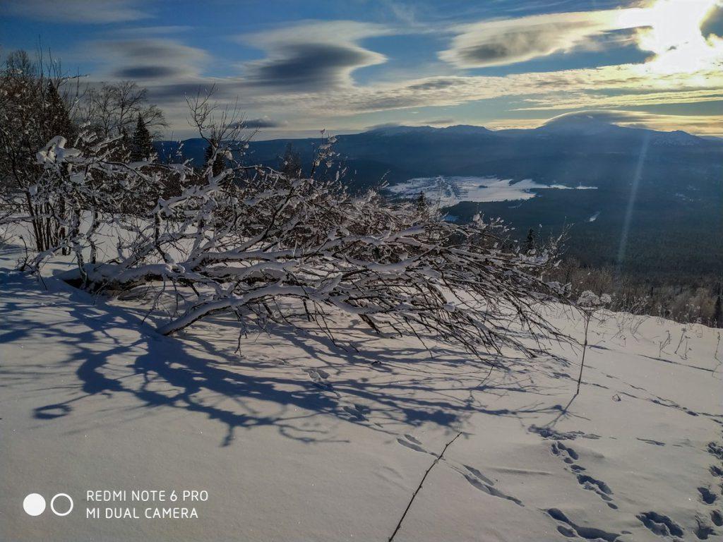 Подъем на плато Зигальга зимой