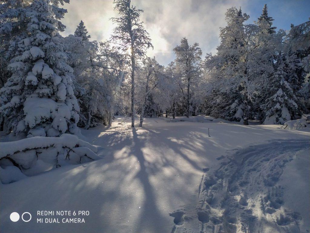 Верхнее плато хребта Зигальга зимой