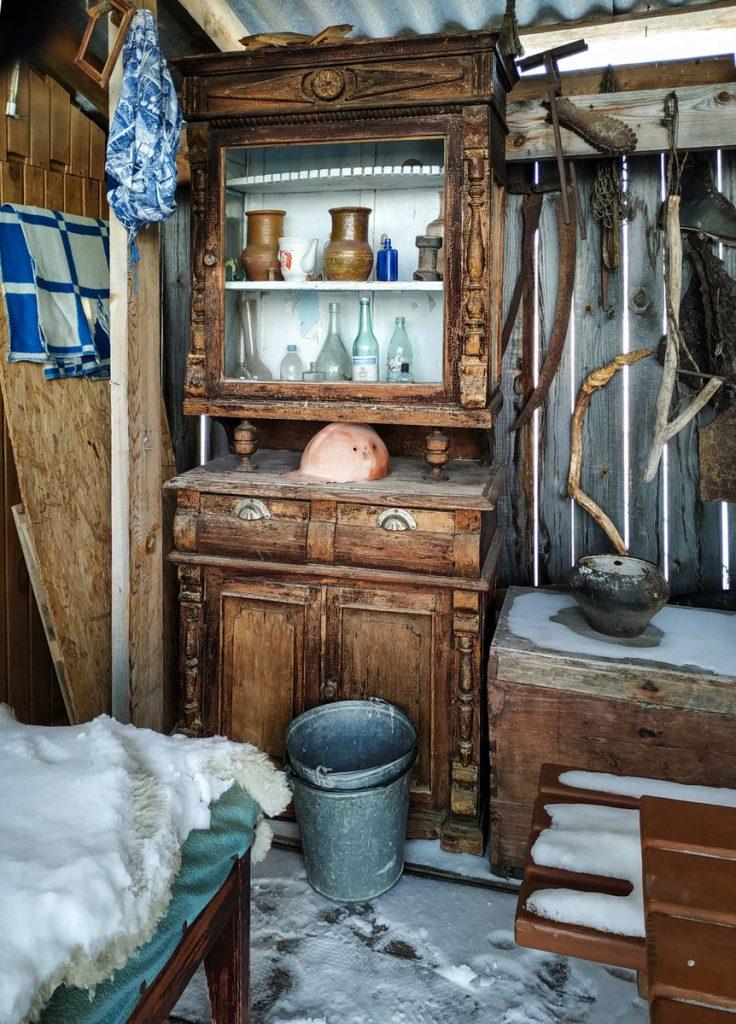 Казачья застава в селе Тюлюк зимой