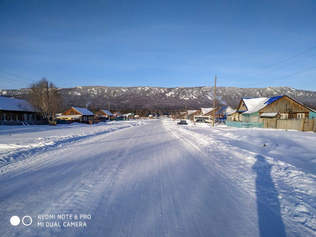 Село Тюлюк, вид на хребет Зигальга