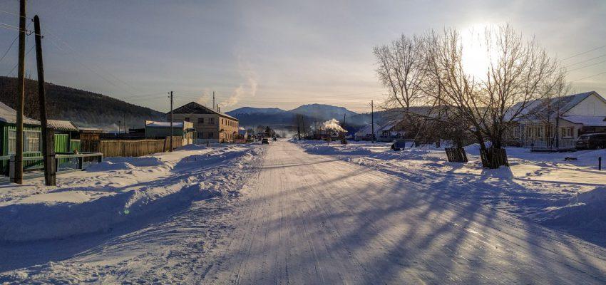 Тюлюк за восходе зимой