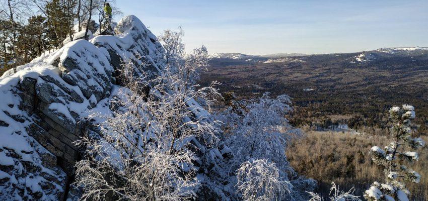 Вид с вершины хребта Бакты на хребет Зигальга