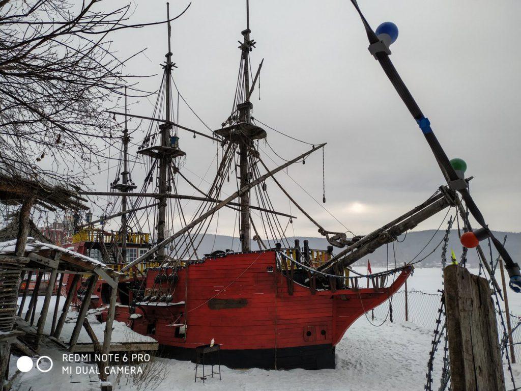 Корабль в Сонькиной лагуне