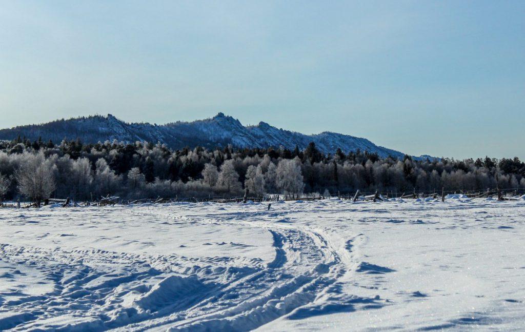Хребет Бакты зимой