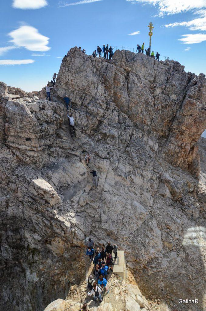 Самая высокая гора германии Цугшпитце