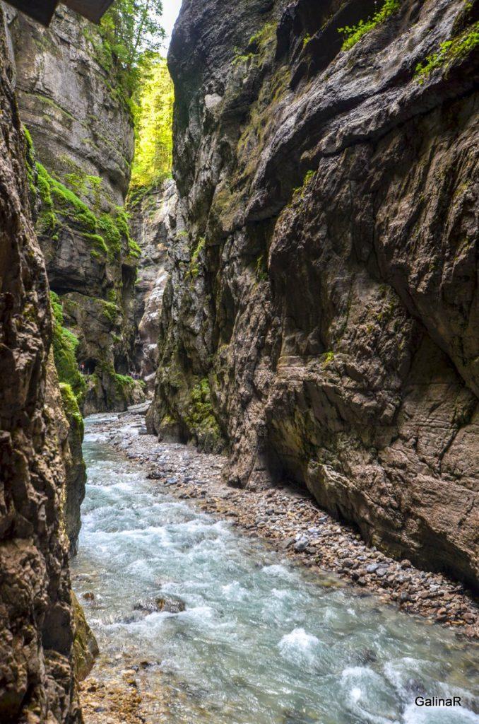 Ущелье Партнахкламм в Гармиш Партенкирхен
