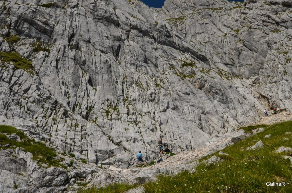 Альпинисты в Баварских Альпах
