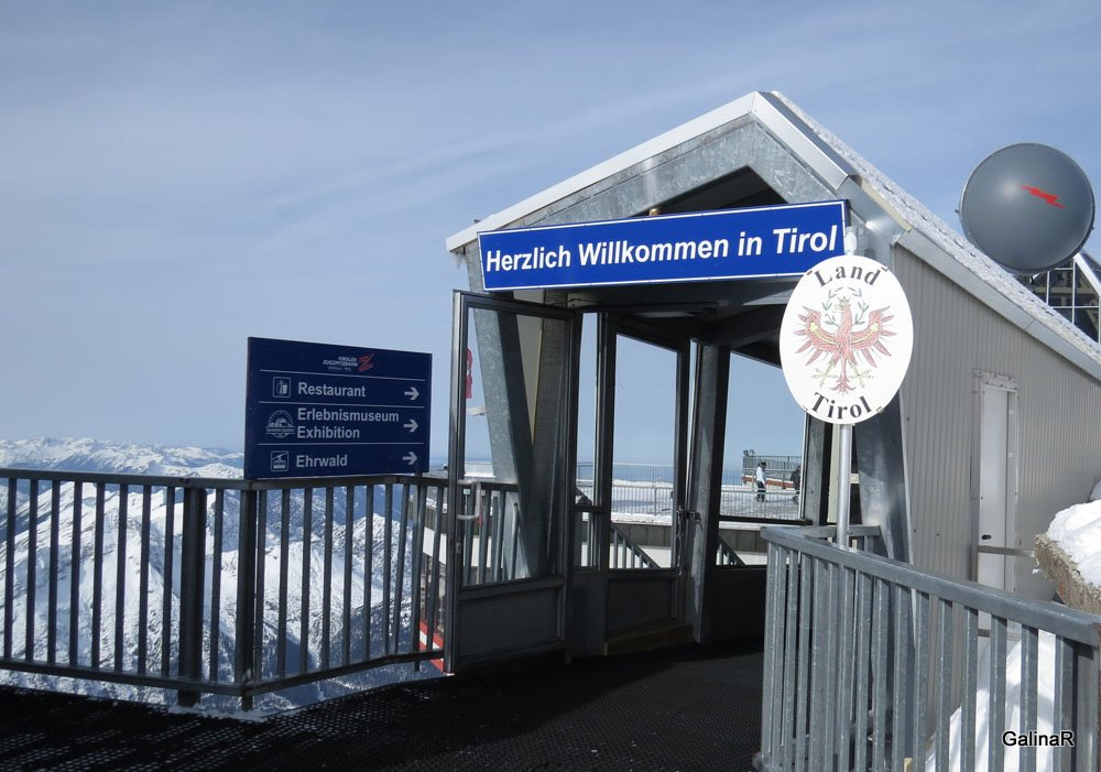 Граница между Германием и Австрией на Цугшпитце