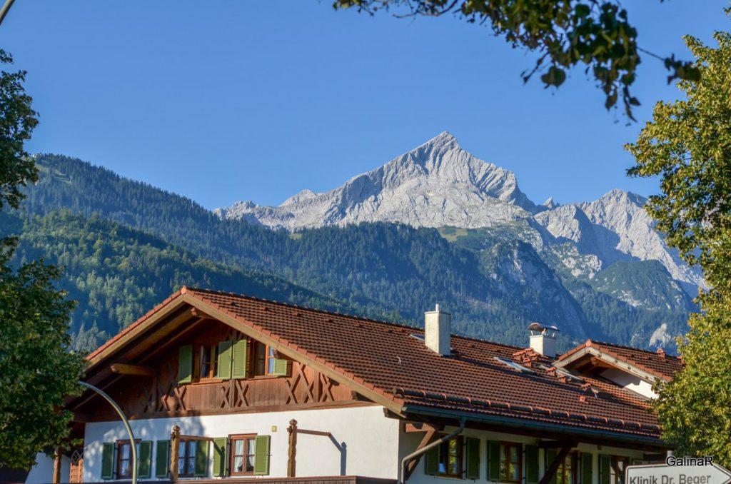 Альпийский городок Гармиш Партенкирхен