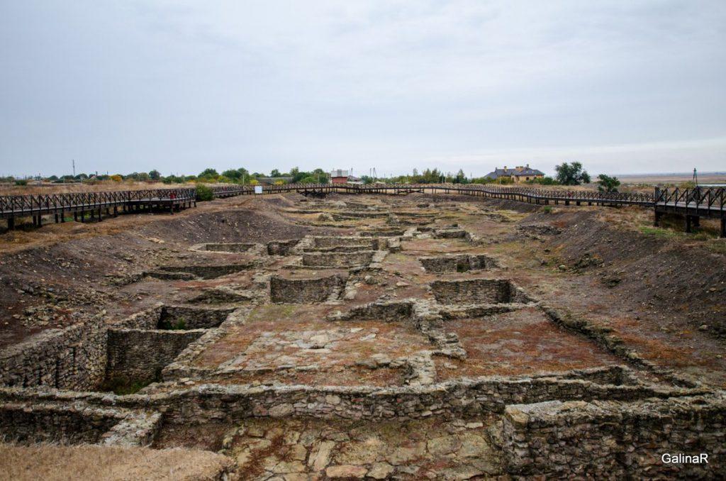 Раскопки древнего города Танаис Акрополь