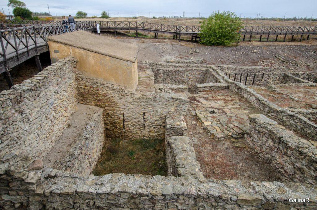 Центральная часть древнего города Танаис