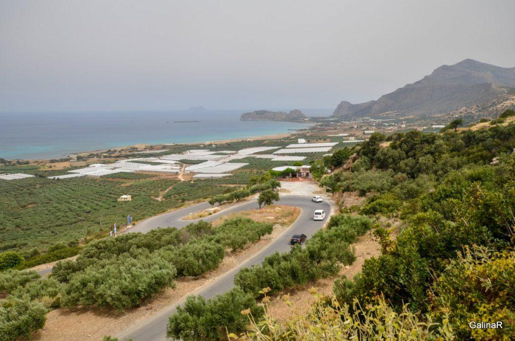 Дорога на пляж Фаласарна