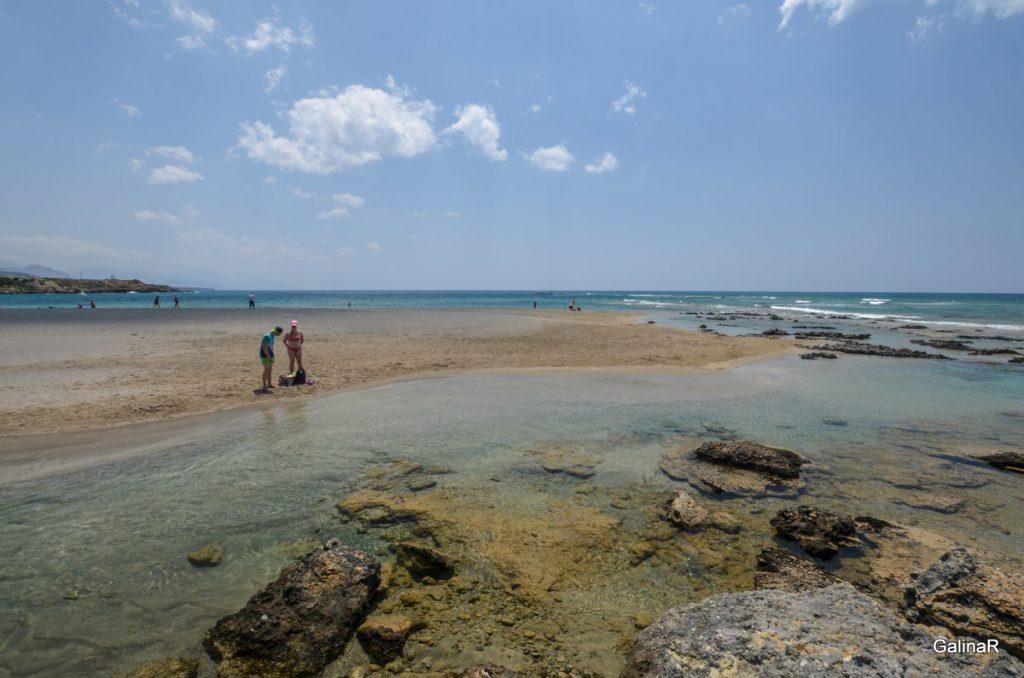 Бухта пляжа Франгокастелло