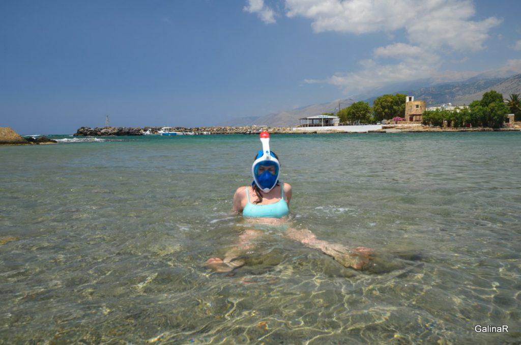 Пляж Франгокастелло плавать с маской