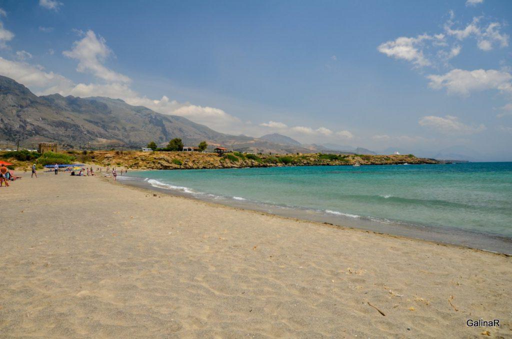 Песок пляжа Франгокастелло