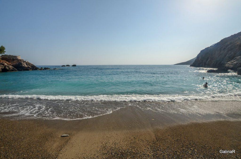 Галька пляжа Хора Сфакион