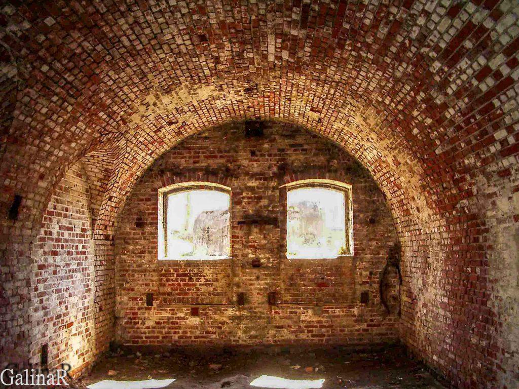 Форт 3 в Калининграде внутри