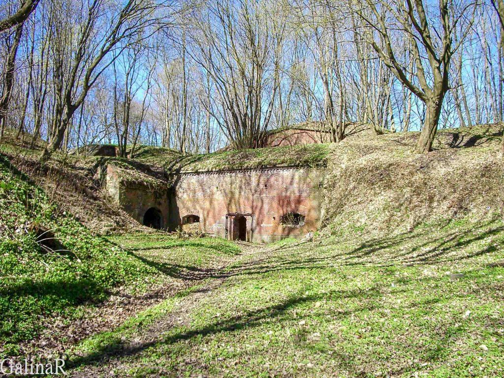 Форт 3 в Калининграде внутренний двор