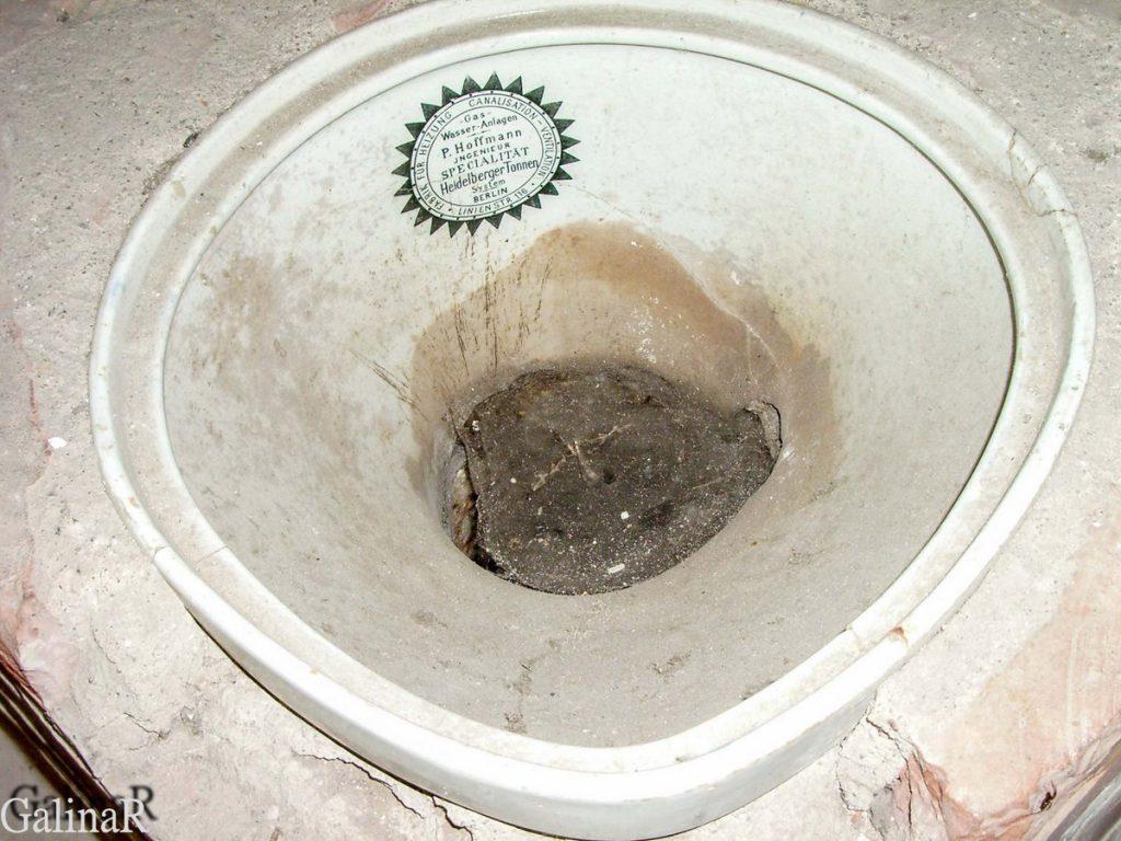 Форт 1 в Калининграде туалет
