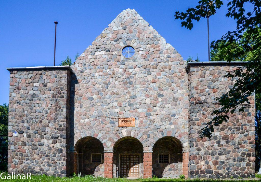 Кирха общины менонитов в Немане - фасад
