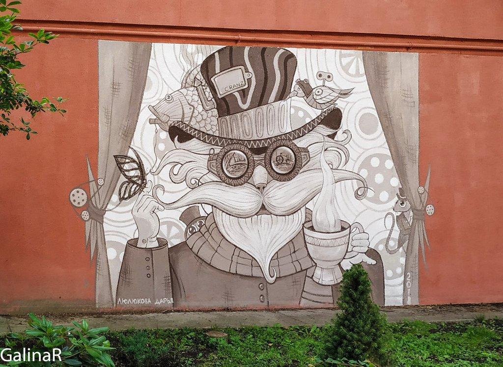 Граффити котов в Зеленоградске